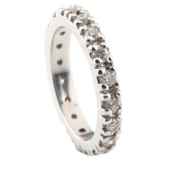 0.50 Carat Eternity Band in White Gold