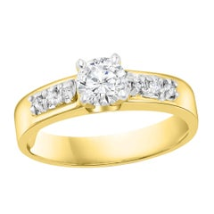 0.50 Carat Solitaire Diamond Traditional Ring/Band 14 Kt Yellow Gold