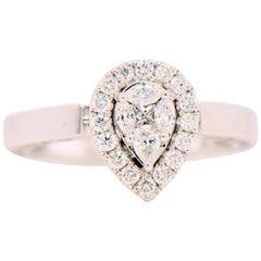 0.50 Carat White Diamond Unique Ring Transformable into a Pendant