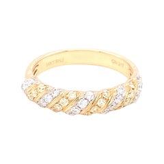 0.50 Carat Yellow & White Diamond Band Ring in 14k Yellow Gold
