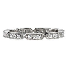 Handcrafted Olivia French Cut Diamond Eternity Band in Platinum by Single Stone