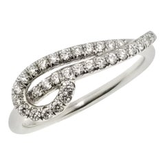 0.51 Carat Diamond and Platinum Love Knot #1 Ring