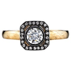 0.51 Carat Old European Cut Diamond Ring