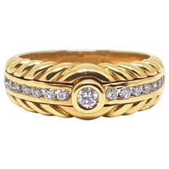 0.52 Carat 18 Karat Yellow Gold Diamond Ring