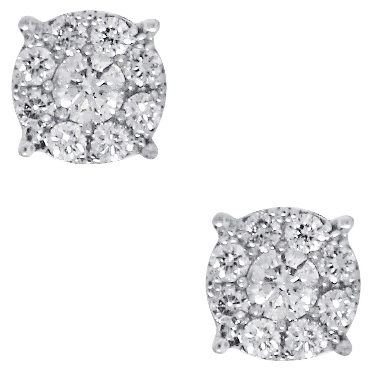 0.52 Carat Diamond Cluster Earrings