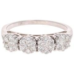 0.53 Carat Diamond 14 Karat White Gold Ring