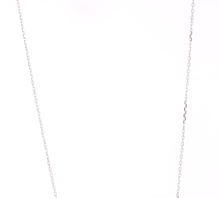 Beautiful, Bold and yet Dainty..  This Chain Necklace has a U-Shaped Pendant that has 13 Round Cut Diamonds (Clarity: SI, Color: F) that weigh 0.53 Carats. The total carat weight of the Pendant is 0.53 Carats.  It is beautifully curated in 14 Karat