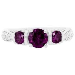 0.53 Carat Pink Diamond Three-Stone Ring