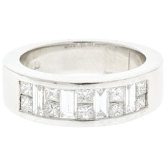 0.55 Carat Princess Diamond Ring in Platinum