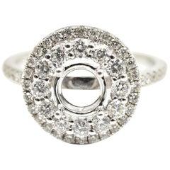 0.57 Carat Diamond 18 Karat White Gold Semi-Mount Engagement Ring