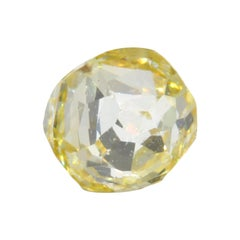 0.57 Carat Faceted Bead GIA Certified Fancy Yellow Diamond