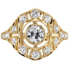 0.57 Carat GIA Certified Old European Cut Diamond Set in an 18 Karat Gold Ring