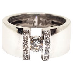 0.59 Carat White Gold Diamond Engagement Ring