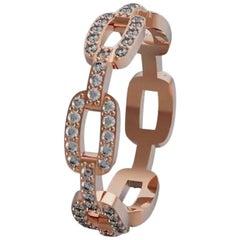 0.60 Carat Diamond Band Ring 18 Karat Rose Gold