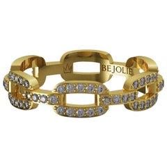0.60 Carat Diamond Band Ring 18 Karat Yellow Gold