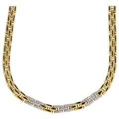 0.60 Carat Diamond Interlocking Link Necklace 18 Karat in Stock