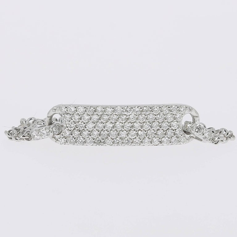 Women's or Men's 0.60 Carat Round Diamonds Bracelets Gold Chain Bracelets Diamond Gold Bracelet  For Sale