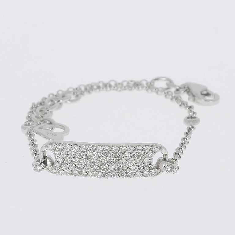0.60 Carat Round Diamonds Bracelets Gold Chain Bracelets Diamond Gold Bracelet  For Sale 2