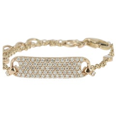 0.60 Carat GVS Round Diamonds Pave Bracelets or Chain Bracelets 18 Karat Gold