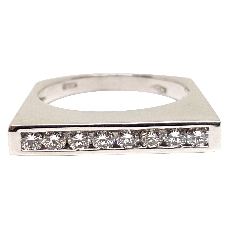 0.60 Carat White Gold Diamond Memory Ring