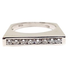0.60 Carat White Gold Diamond Memory Ring