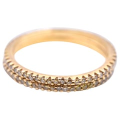 0.60 Carat Yellow Diamond 18 Karat Yellow Gold Eternity Band