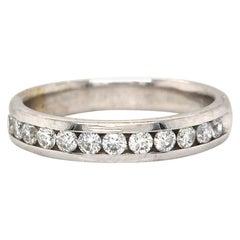 0.60ctw Diamond Channel Set Wedding Band Ring in 14K