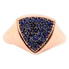 0.61 Carat Blue Sapphire Ring