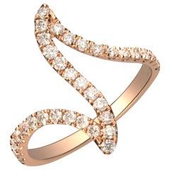 0.61 Carat Diamond 14 Karat Rose Gold Ring