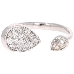 0.61 Carat Diamond Ring 14 Karat White Gold