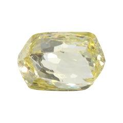 0.62 Carat Briolette GIA Certified Fancy Yellow Diamond