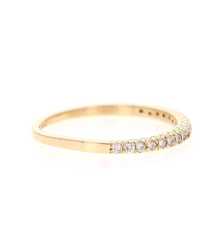 Round Cut 0.62 Carat Diamond Wedding Set 14 Karat Yellow Gold For Sale