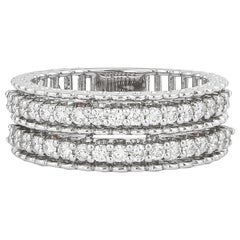 0.63 Carat GVS Diamond Band Ring in 18 Karat White Gold