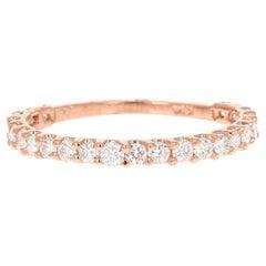 0.64 Carat Diamond 14 Karat Rose Gold Stackable Band