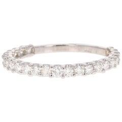 0.64 Carat Diamond 14 Karat White Gold Stackable Band