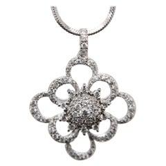 0.64 Carat Diamond Pendant in 18 Karat Gold