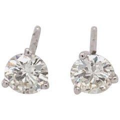 0.64 Carat Diamond Stud Earrings
