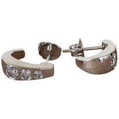 0.65 Carat Diamond Bezel Set Earrings, Ben Dannie