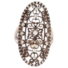 0.66 Carat Art Deco Vintage Inspired Diamond Ring