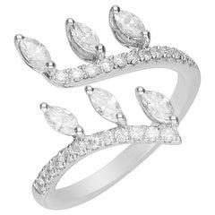 0.66 Carat Diamond 18 Karat White Gold Fashion Ring