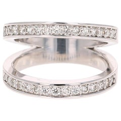 0.67 Carat Diamond Cocktail Ring 14 Karat White Gold