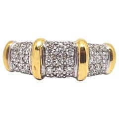 0.68 Carat 18 Karat Yellow White Gold Diamond Ring