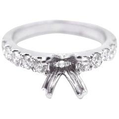 0.68 Carat Diamond 14 Karat White Gold Semi-Mount Engagement Ring