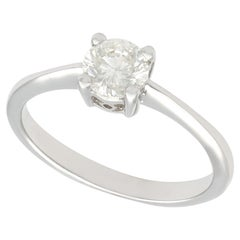 0.69 Carat Diamond and White Gold Solitaire Engagement Ring