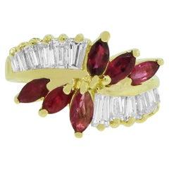 0.70 Carat Ruby Diamond Ring