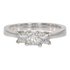 0.70 Carat Three-Stone Diamond Engagement Ring