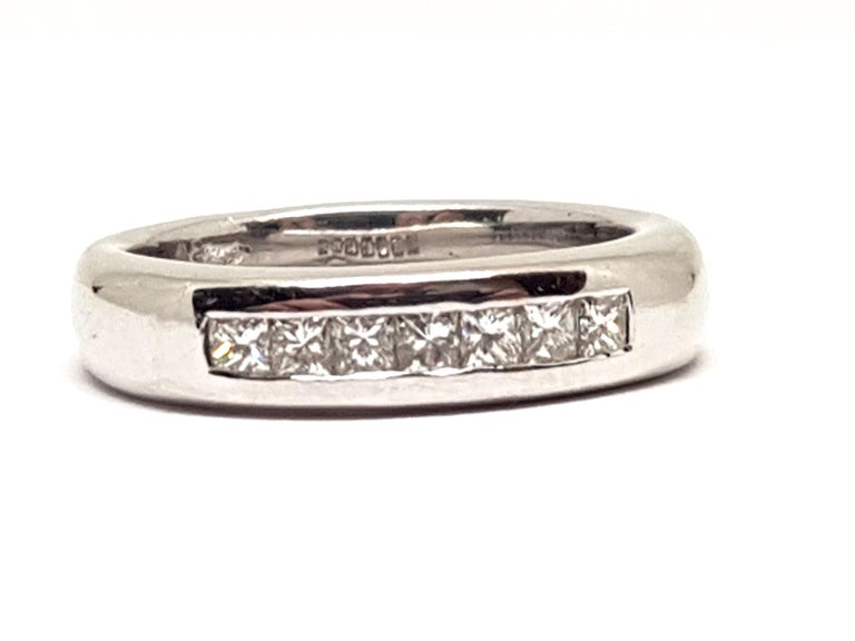 0.70 Carat White Gold Diamond Memory Eternity Ring For Sale 4