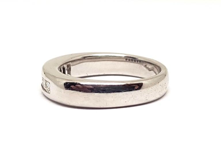 0.70 Carat White Gold Diamond Memory Eternity Ring For Sale 1
