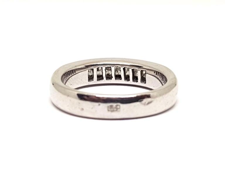 0.70 Carat White Gold Diamond Memory Eternity Ring For Sale 2