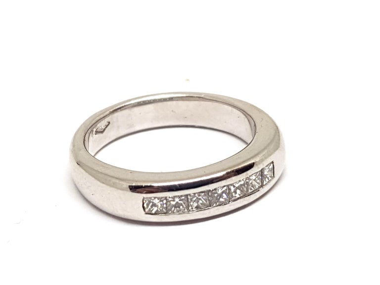0.70 Carat White Gold Diamond Memory Eternity Ring For Sale 3